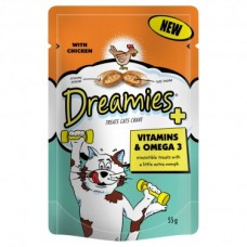 Dreamies Dreamies Plus Vitamins & Omega3 8x55g