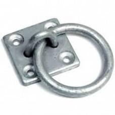 Tie Ring On Plate - Galvanised X10