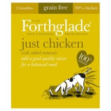 Forthglade Just Chicken Grain Free Dog Food 18 x 395g